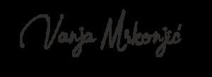 Vanja Mrkonjić - Handtekening